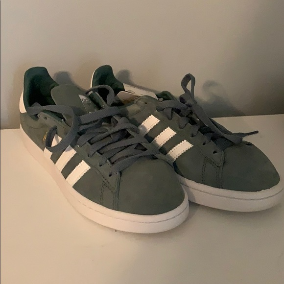 Brand New Raw Green Adidas Campus Shoes